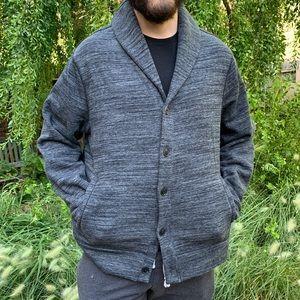MARC ANTHONY Gray Cardigan Sweater Slim Fit XXL